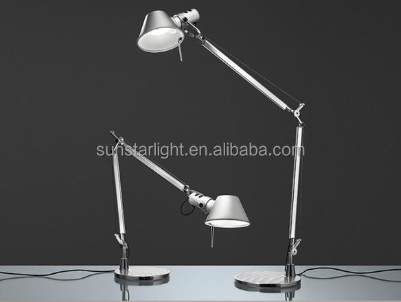 Simple Deign Modern Lighting,Led Adjustable Metal Light Table Lamp For Hotel and rooms