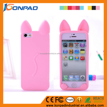 Hot selling cute cartoo silicone folio mobile phone case for Apple iPhone 7 case wholesale