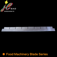 Plastic dotted line cutter blade for cutting paper towel