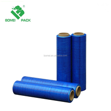 2017 new hot new factory direct LLDPE blue stretch film