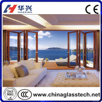 Easy installation white upvc profile insulated glass/laminated glass security sliding outside door
