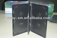 6 disc black dvd case/6 disc dvd box