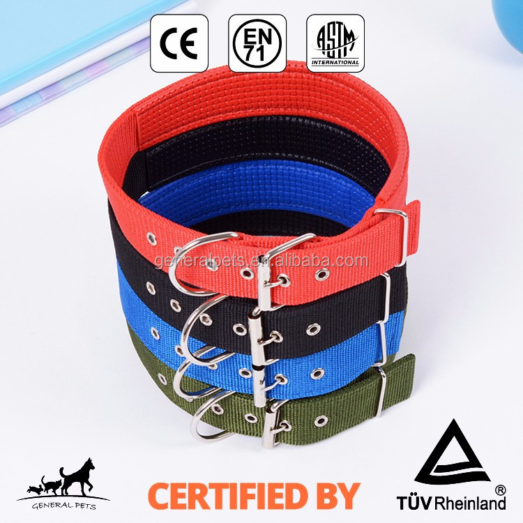 Wholesale five sizes nylon dog collar pet training supplies