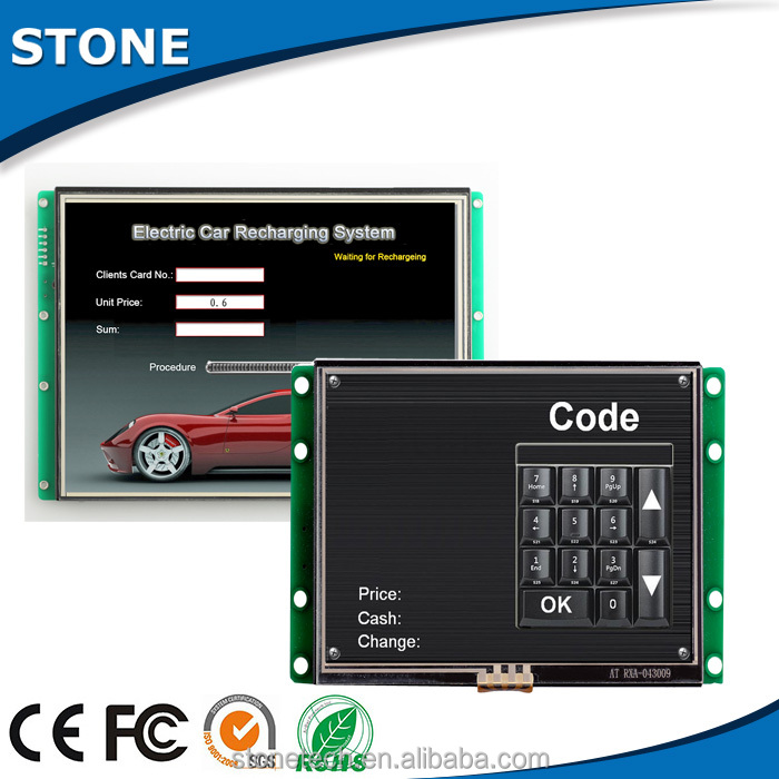 electronic components supplies with 5 inch sunlight readable lcd monitor for dry cleaning machine