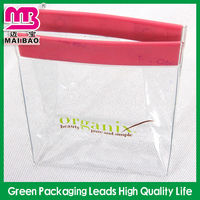 Cute cleat transparent pvc ice bag for wine