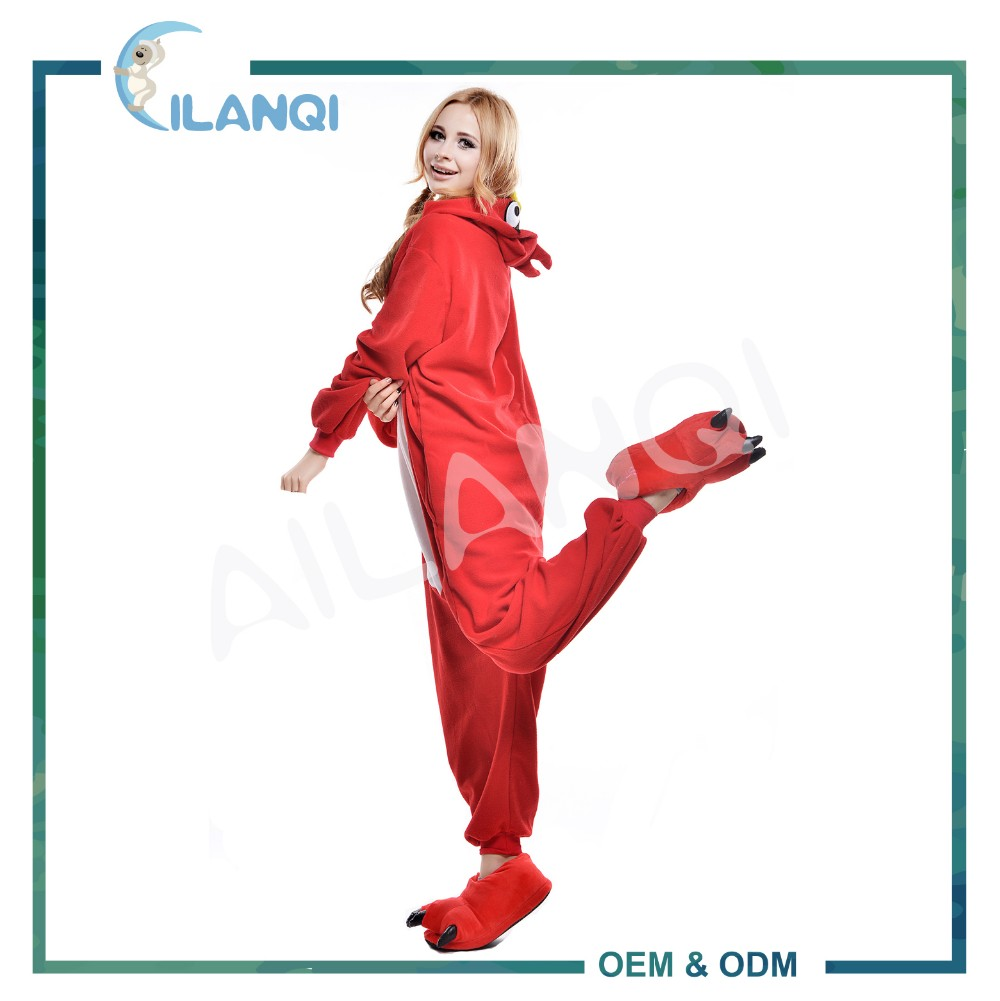 ALQ-A011 Winter preparing wholesale polyester funny pajamas women