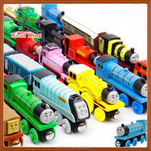 Yiwu Craft Product Children'S Kids Little Engine Wooden Toy Car Train Track Mini Thomas Train Toy Tracks