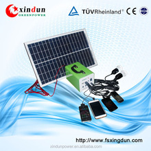 Off Grid 10w-30w 12v 7-12AH Portable Hand-Held Solar power system home/solar fan/solar system