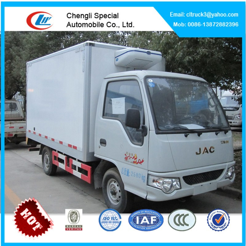 JAC refrigerator truck,refrigerator cooling van for sale,mini refrigerated truck