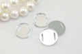 Shiny white pearl button with holes