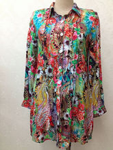 sold to Thailand/Cambodia/Philippines colorful muti-color passionate tropical ladies blouse shirt type dress kebaya