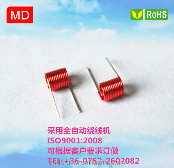 Air coil inductor for automotive electronics