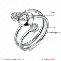 Three Stone Double Finger Ring Nice