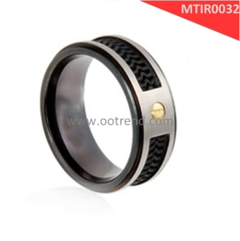 Pure titanium grade 2 china jewelry factory fiber titanium ring core