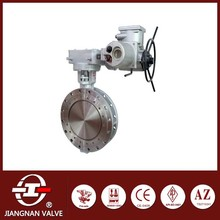 Double Flange butterfly valve electric hand wheel