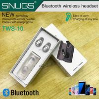 Twins True TWS Wireless Bluetooth 4.1 Earphone Stereo Mini Earbuds Portable Handsfree Headset With Charging Socket Box Dock