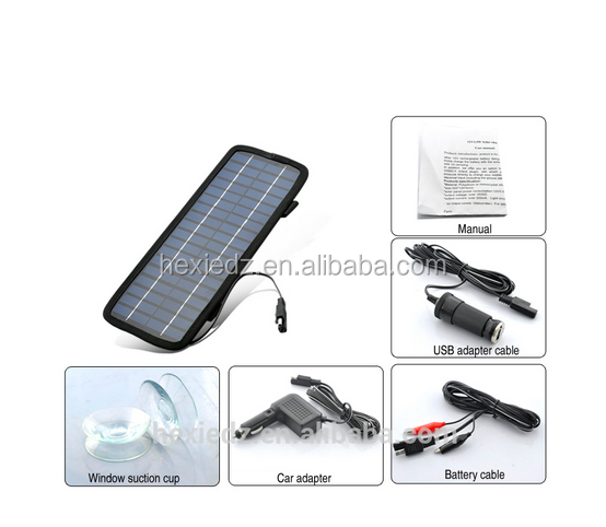 4.5W 12V Solar Panel Auto Car Battery Charger