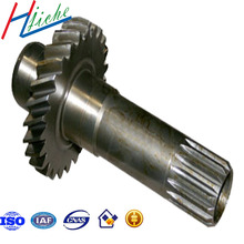 custom casting forging and machining worm gear shaft with iso quality