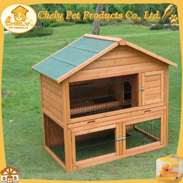 Elegant Design Outdoor Rabbit Hutch Made Of Solid Pet Cages,Carriers & Houses