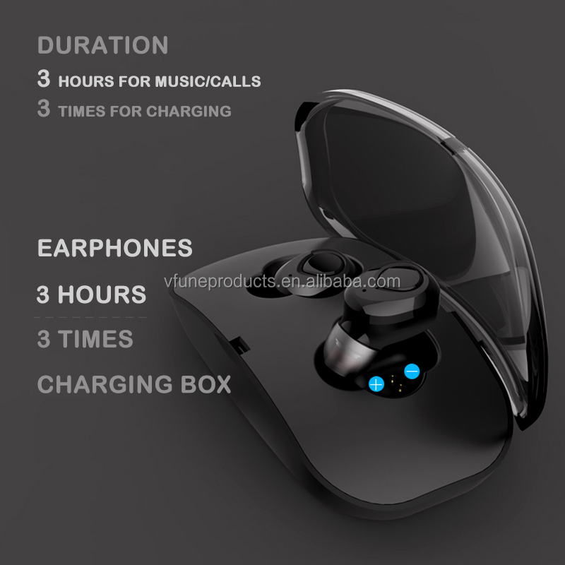 Wireless Headset Handfree Handset TWS Earphones Headphones Earphones with Charging Box