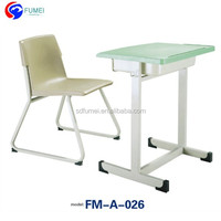 Cheap school furniture study desk and chair FM-A-026