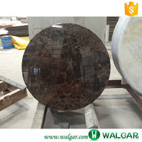 Top Quality Marble Top Brown Round Coffee Table