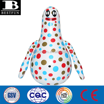 high quality vinyl inflatable bopable super malfi bop bag plastic tumbler punching boxing toys