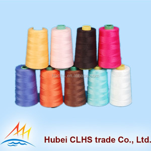 100% Polyester Twisted Sewing Overlock Thread 60s/2 from wuhan manufacturer