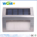 Upgrade Version Sunproof Waterproof Solar Powered Stainless Steel 3 LED White Staircase Step Light