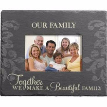 Black Slate Stone Home Furnishing decoration christmas slate family wedding pictures photo frames