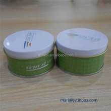 Mold available and custom round tin box for candle