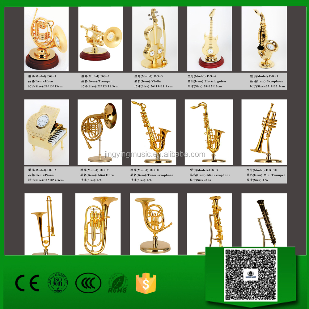 Mini Instrument Model, Miniature brass wind/wood wind musical instruments ornaments