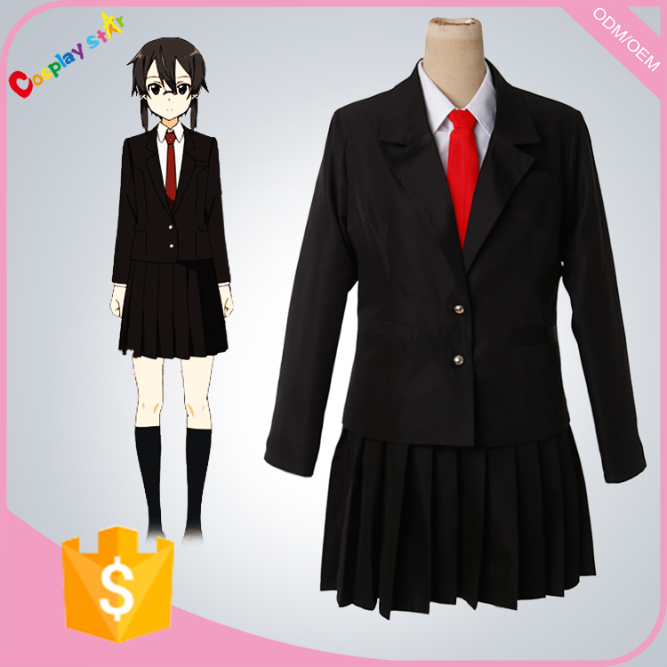 school girl outfit from Sword Art cosplay costume suit