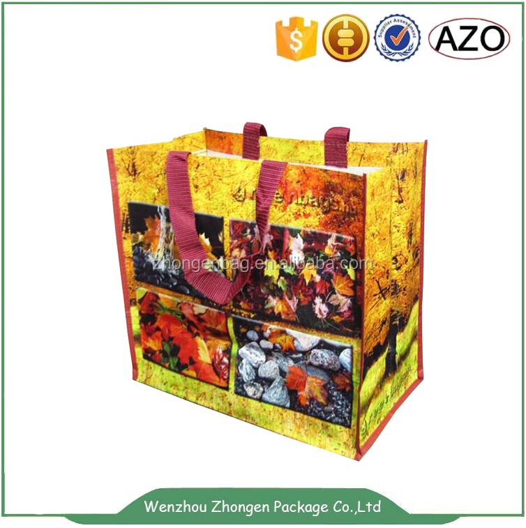 Company promotion gift laminated non-woven handle bag