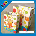 Custom printed recyclable paper shopping bags, shopping paper bags with handles