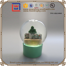 OEM Glass Snow Globe With Tree And Bike Nature Snow Globe