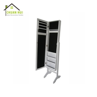 Furniture jewelry mirror cabinet , jewellery cabinet with mirror