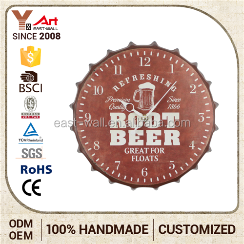 Make Your Own Wall Clock Interior Home Decoration High Quality Root Beer