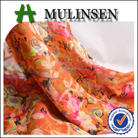 Mulinsen Textile High Quality Printed Woven Voile Cotton Printed Dress Material