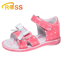 High Quality Summer Leather Kids Fancy Dress Girls Sandals