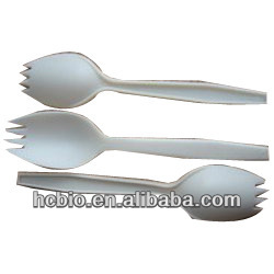 6inch Forkspoon biodegradable disposable eco-friendly plastic cutlery