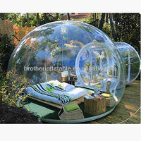 Outdoor trade show inflatable bubble tents