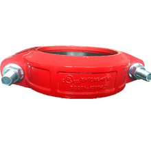 UL FM approval widely used in fire fighting piping delivery grooved rigid coupling epoxy painted red various sizes