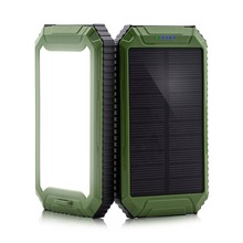 PowerGreen Wholesale Dual USB Outputs 10000mAh Portable Solar Cell Panel Power Bank Charger