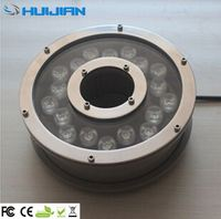 CE FCC swimming pool dc24 volt dmx led rgb underwater light 18w