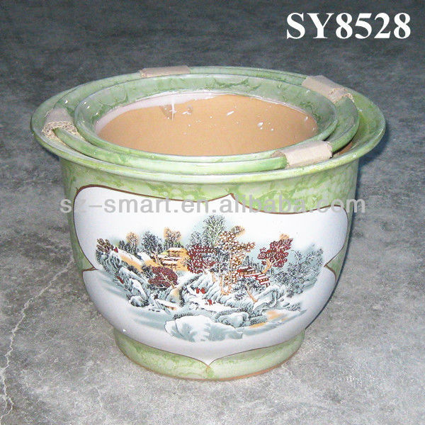 Garden pot for flower scenery green decal decoration pot plant