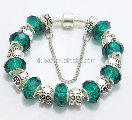 Dubaa Factory Cheap Wholesale Fashion Jewelry 2015 Fashion Crystal Bead Bracelet,Pulsera de Moda