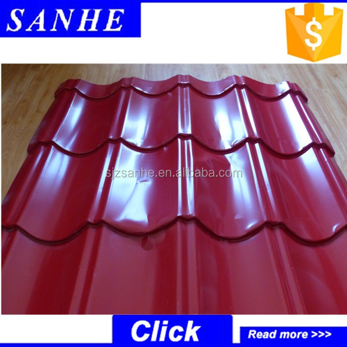 curving galvanized steel sheet roof panels