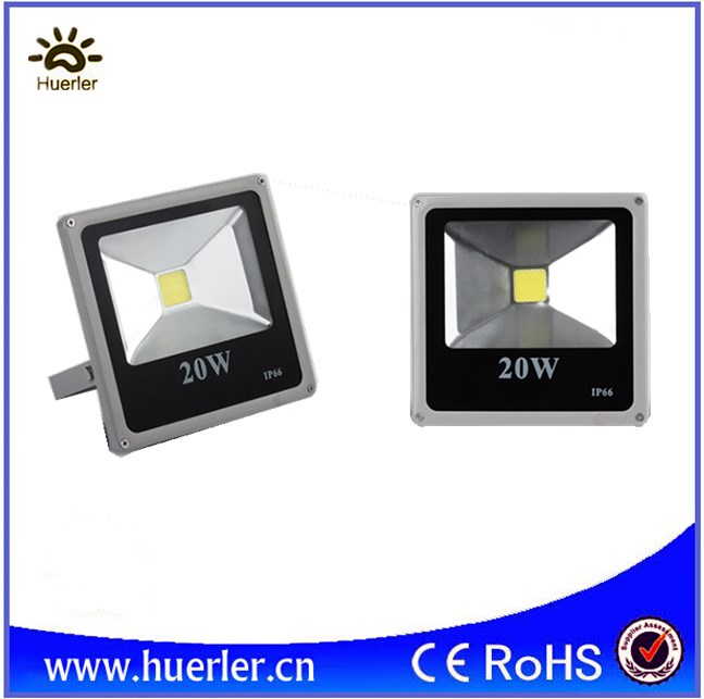 CE ROHS slim DC12-24V <strong>led</strong> floodlight 20w outdoor IP66 flood light COB 12v 24v waterproof