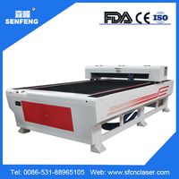Senfeng Belt Transmission 130w 150w nonmetal and metal laser cutting machine